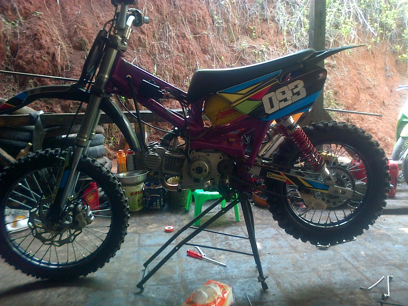 50 Gambar Modifikasi Motor Trail Grasstrack Adventure