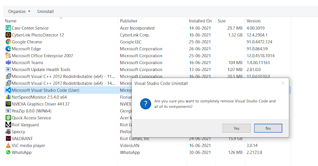 Uninstall Apps & Programs on Windows 10 From Control Panel
