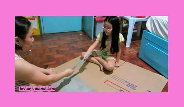 DIY Barbie dream house - doll house - toys - play time - motherhood- creativity - DIY skills - DIY toys - DIY project - balikbayan box - Bacolod mommy blogger