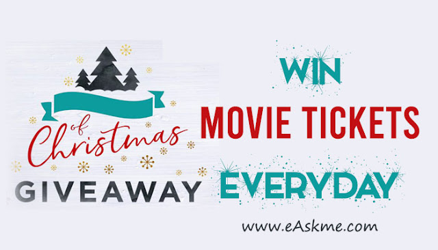 eAskme Christmas & New Year GiveAway: Win Free Movie Tickets Everyday: eAskme