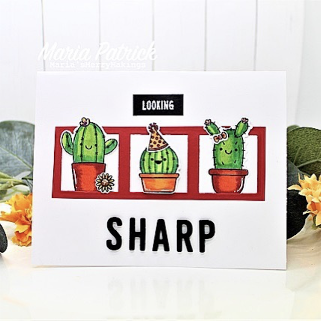 Sunny Studio Stamps: Looking Sharp Customer Card by Maria Patrick