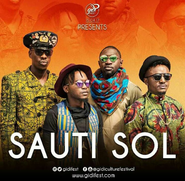 Sauti Sol To Arrive Nigeria April 2017 To Perform Live At Gidi Culture Festival