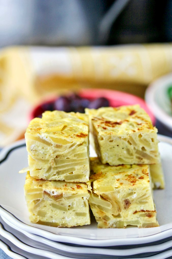 Spanish tortilla squares