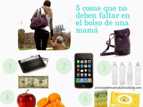 5 COSAS QUE NO DEBEN FALTAR EN EL BOLSO DE UNA MAMÁ?