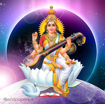 devi sarswati mata sarswati wallpaper hindu goddess