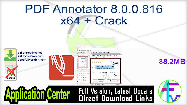 PDF Annotator 8.0.0.816 x64 + Crack
