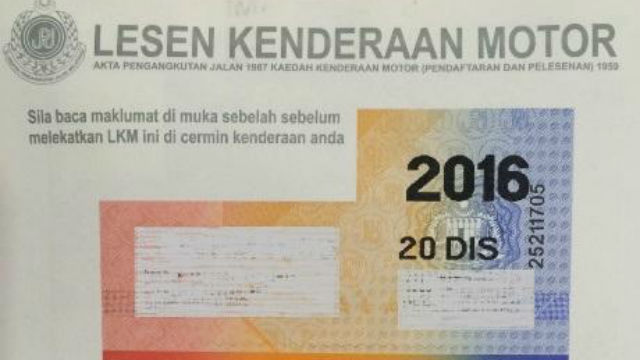 Image result for road tax malaysia