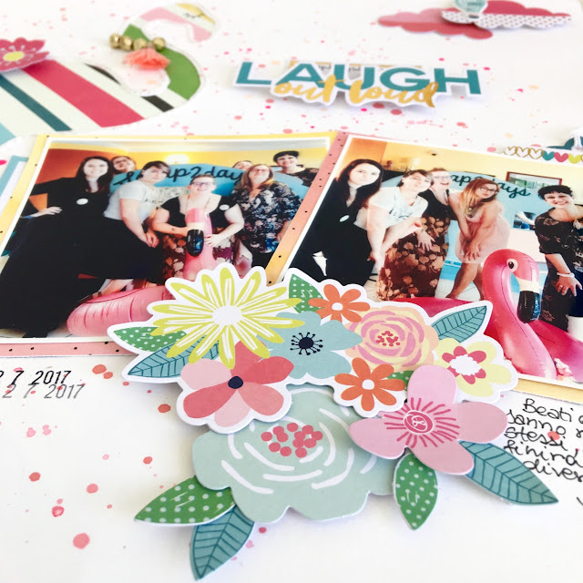 Laugh Out Loud Scrapbook Page by Angela Tombari for Crea il Tuo Kit con Angela & Giorgia