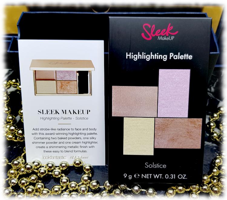 Sleek Makeup Highlighting Palette box & card