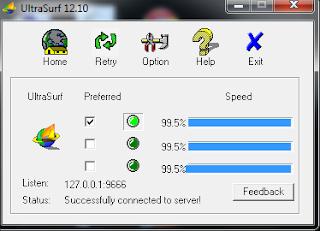 how do i get ultrasurf 12.10
