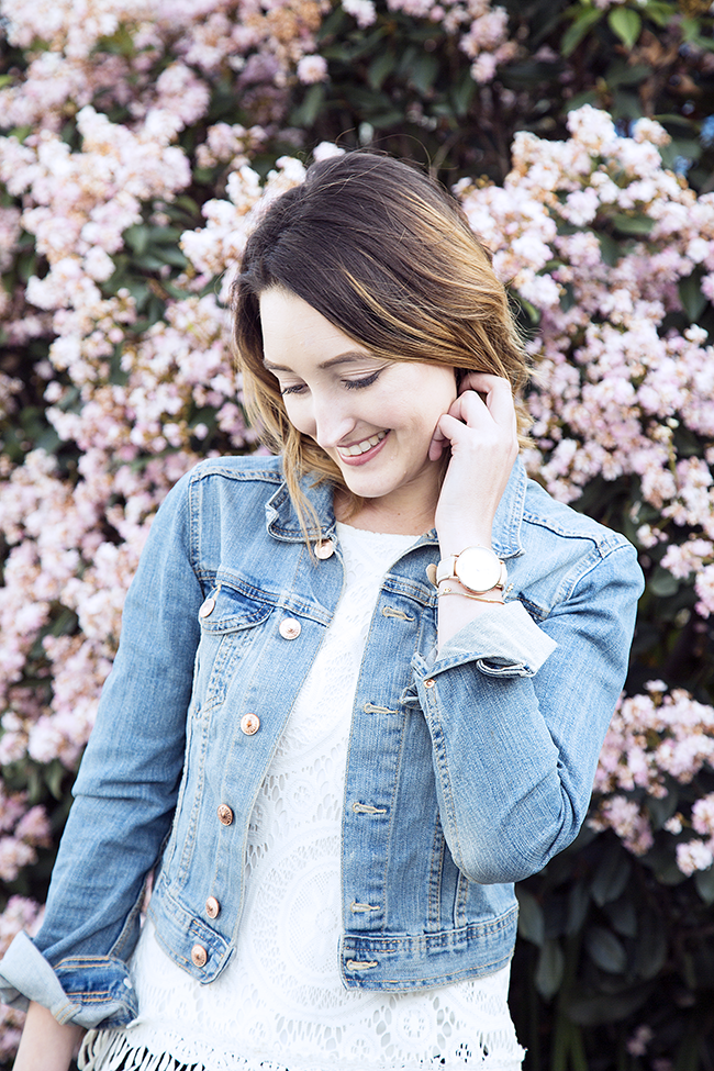 How-To: Wear Denim Jacket in Spring