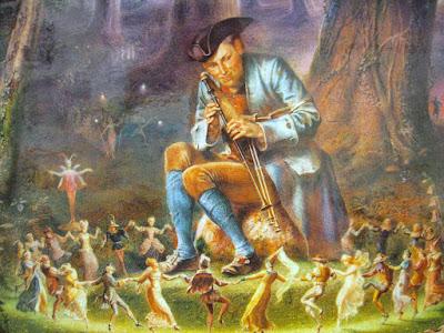 Ο Χορός των μικροσκοπικών ανθρωπάκων, πίνακας του William Holmes Sullivan / The Dance of the Little People, by William Holmes Sullivan