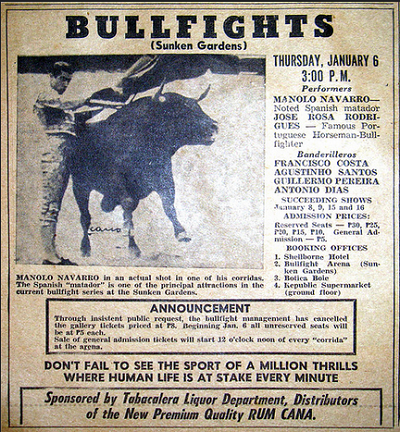 Bullfight in Philippines