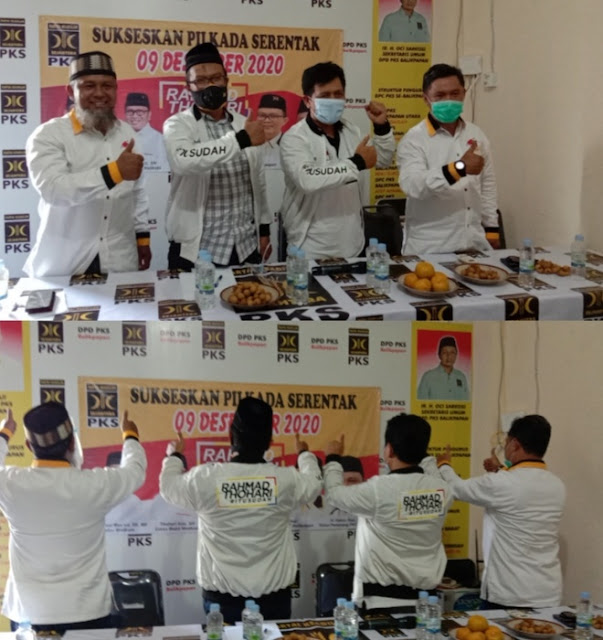 Partai PKS Kota Balikpapan Berkomitmen Mendukung Pasangan Rahmad -Thohari