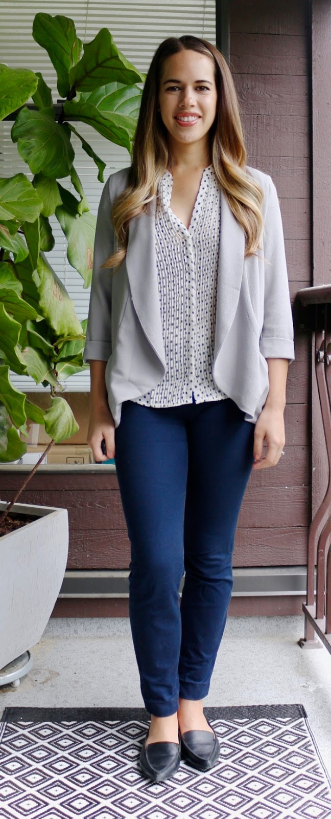 Jules in Flats - Polka Dot Blouse with Blazer