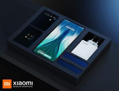 شاومي تقدم براءة اختراع لهاتف قابل لتغيير الأجزاء ويأتي الهاتف بثلاثة قطع
