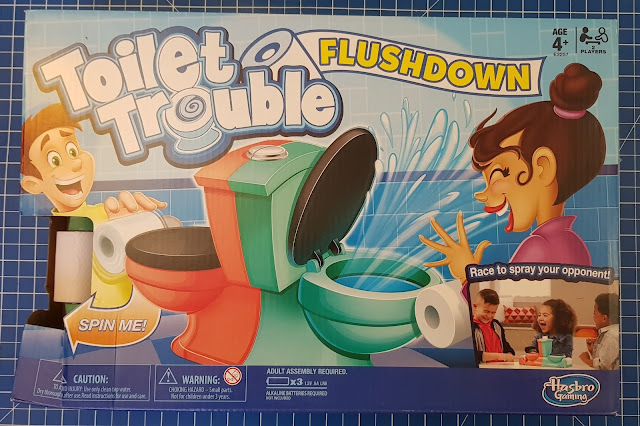Toilet Trouble Flushdown Game Review box front