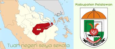 Peta Lokasi Riau Logo Lambang Kabupaten Pelalawan