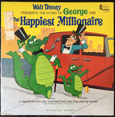 Disneyland Records vinyl, ST-3952, A magnificent full-color illustrated book and long-playing record, 1967, Richard M. Sherman, Robert B. Sherman, Mike Sammes, Front cover