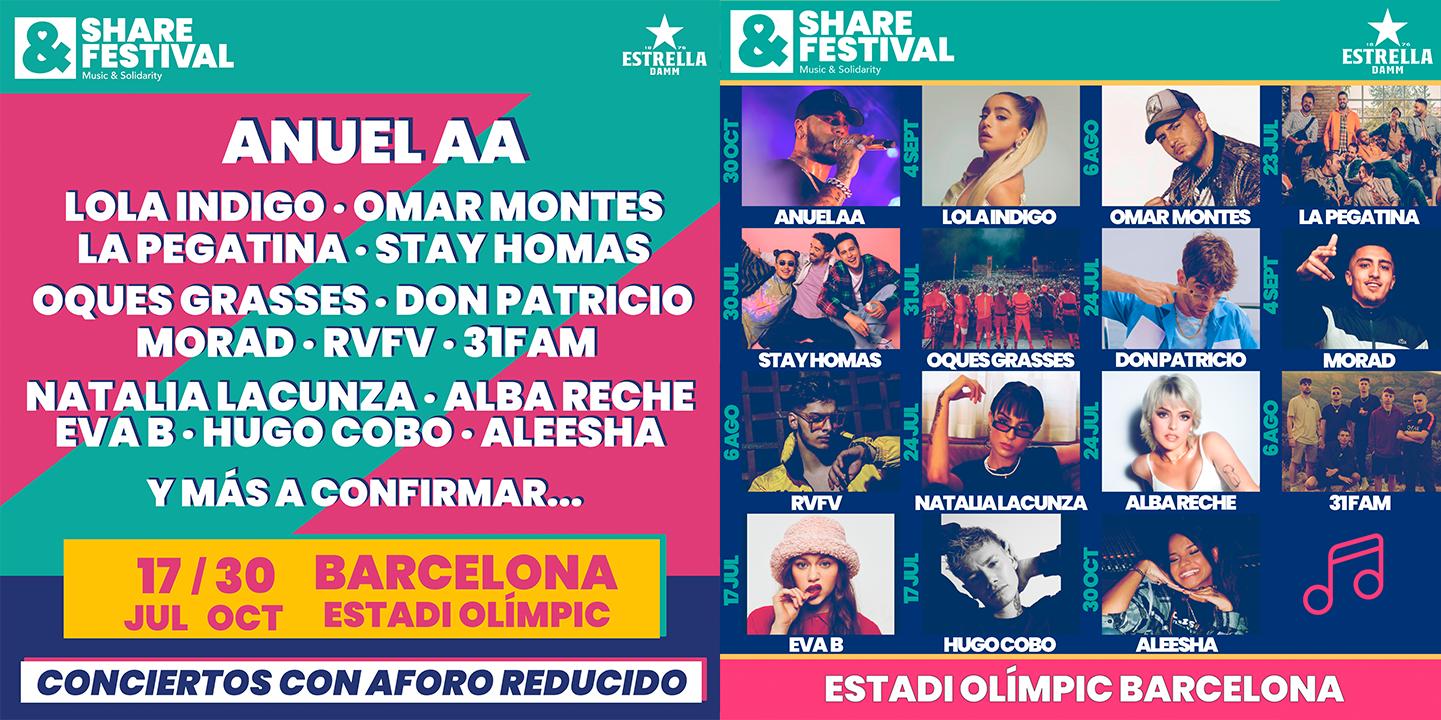 El Share Festival da a conocer toda su programación y estrena formato en su  tercera edición