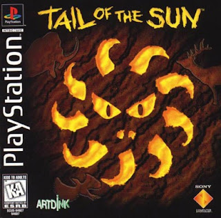 Front cover for the Sony Playstation game Tail of the Sun.