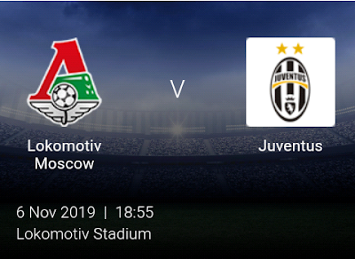 LIVE MATCH: Lokomotiv Moscow Vs Juventus UEFA Champions League 06/11/2019