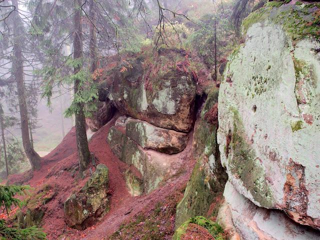 Felsen Eggegebirge Sandstein