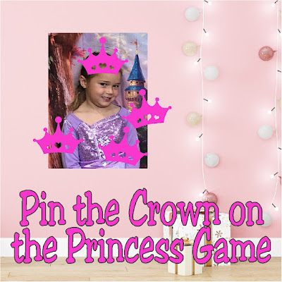 Turn your little princess' picture into the perfect princess party game.  Such a fun way to add a little personalized fun and make the party extra special.