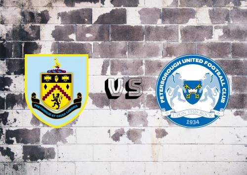 Burnley vs Peterborough United  Resumen