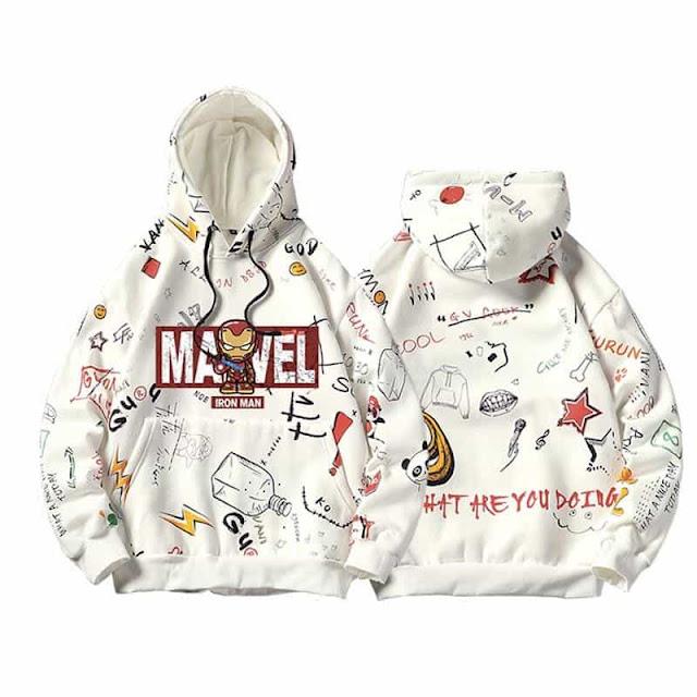 áo hoodie marvel