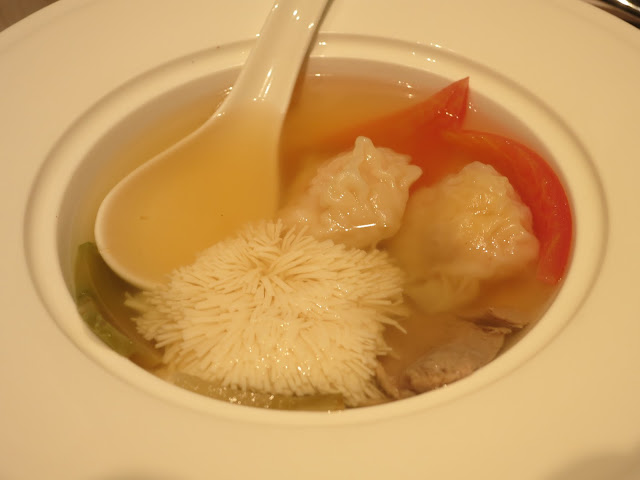 Double-boiled Salted Preserved Vegetable with Duck Soup and Bird's Nest Dumpling