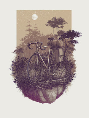 """Hideout"" Screen Print by Justin Santora"