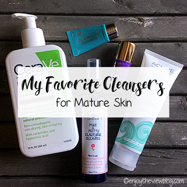 five different facial cleansers