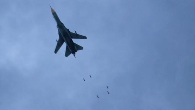 Aviones militares de Siria atacan a terroristas en Guta Oriental