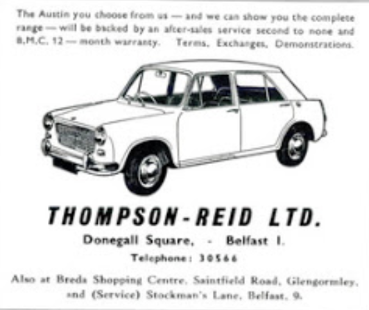 Lord Belmont In Northern Ireland 1974 Belfast Car Dealers