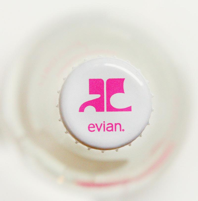 courreges evian bottle cap