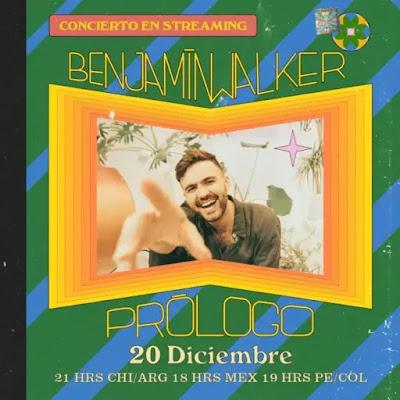 """""""Prólogo"""": Benjamín Walker anuncia concierto en línea"""