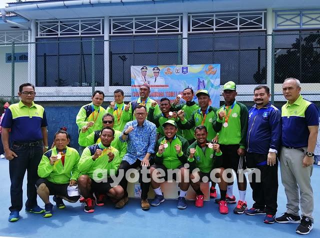 Jawa Timur Juara Umum Cabor Tenis Pornas Korpri