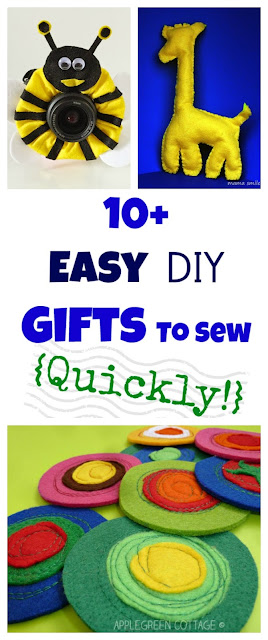 10+ Easy Presents To Sew  {Quickly!} - Do you love creating presents yourself? Here's 10 ideas you will really need to try out! These easy to follow sewing how-tos will be just right for you.