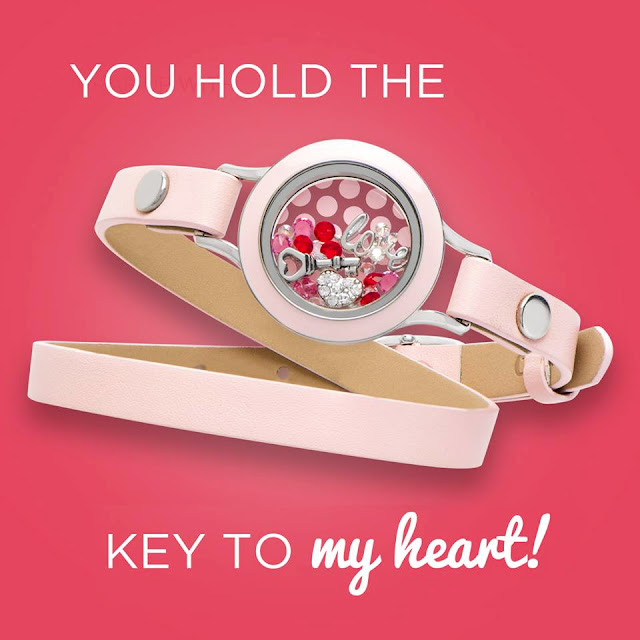 Origami Owl Key to My Heart Living Locket available at StoriedCharms.com