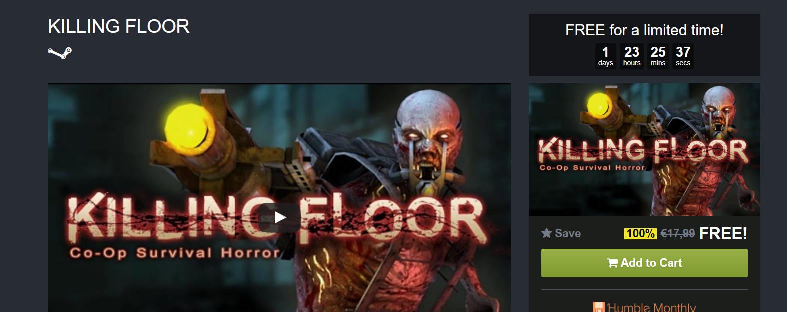 Killing Floor gratis para Steam (PC)