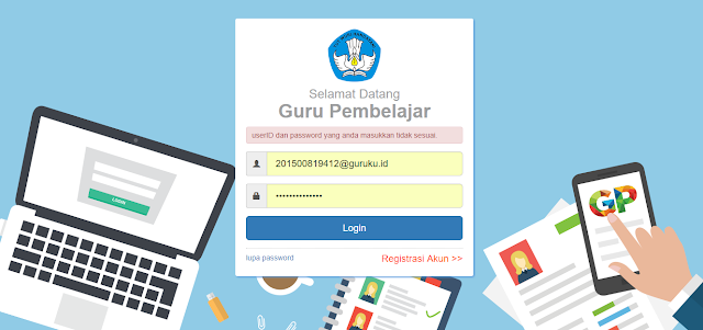 Solusi Salah Password di SIM PKB 2017
