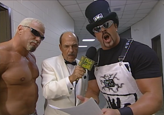 WCW Fall Brawl 1998 - Mean Gene interviews Scott Steiner & Buff Bagwelll