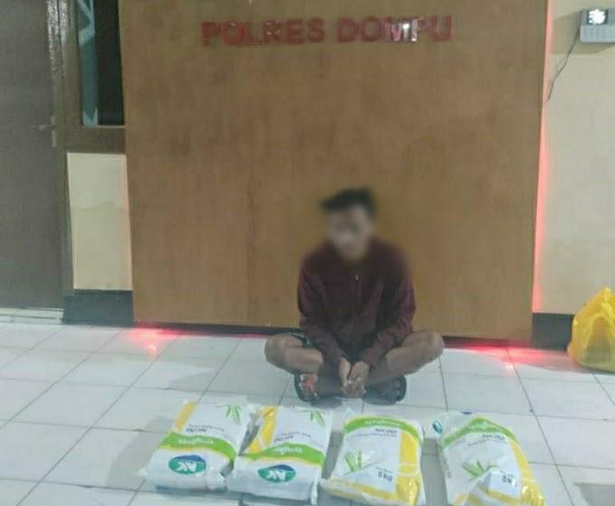 Bawa Kabur Bibit Jagung Hibrida, Pemuda Ini Digiring Ke Mapolres Dompu