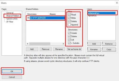 FileZilla Create Admin FTP