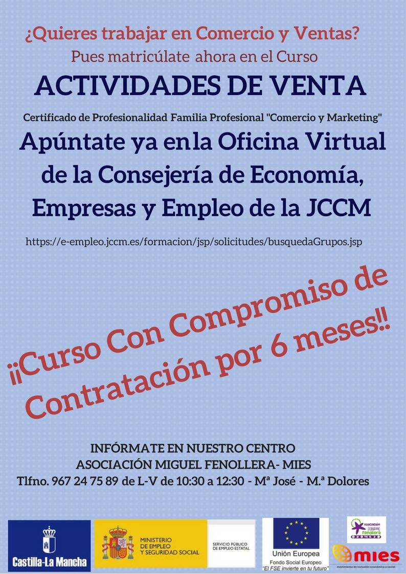 Asociaci n mies curso actividades de venta ahora for Oficina virtual jccm