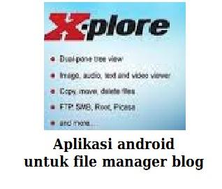 aplikasi android x-plore