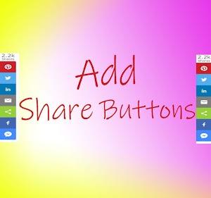 Add Custom Social Media Icons in Blogger Site.