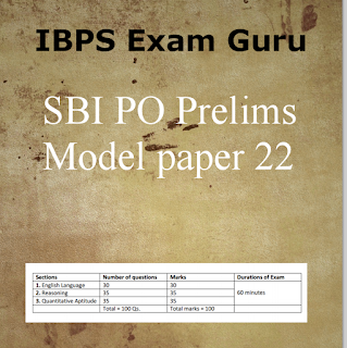 SBI PO Preliminary Practice Set 22 PDF Download