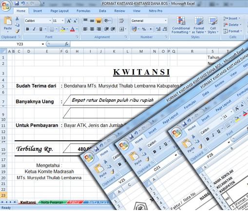 Contoh Format Kwitansi,Nota Pemesanan,Faktur,Berita,Daftar Penerima Honor Kegiatan Dana BOS